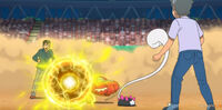 EP1072 Pikachu usando Bola voltio