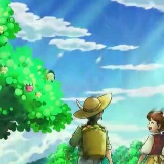 ...tanto la gente como los Pokémon vivían muy felices y en armonía...