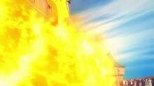P17 Pyroar usando Lanzallamas