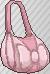Bolso con lazo rosa claro