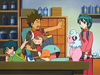 EP425 Max y May alejando a Brock y Marshtomp