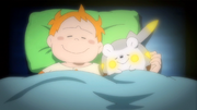 EP949 Chris y Togedemaru durmiendo