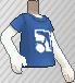 Camiseta con logotipo azul