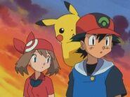EP293 Ash, Pikachu y Aura