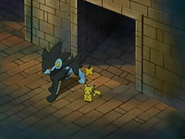 EP528 Luxray y Pikachu en los pasadizos