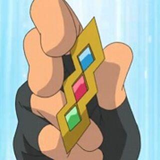 Medalla Trío en el anime.