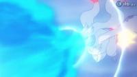 EP784 Reshiram usando llama azul