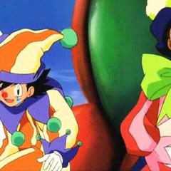 P06 Ash y Brock vestidos de payasos.png