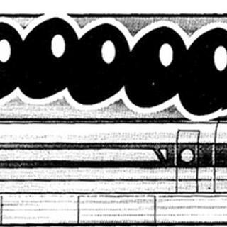 Magnetotrén en el manga.