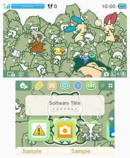 Tema 3DS Pokémon Sustitutos en el Poké Recreo