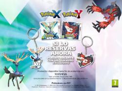 Llavero al reservar Pokémon XY