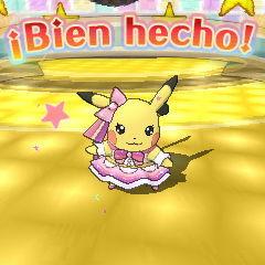 Pikachu superstar ganando un concurso.
