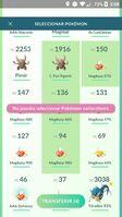 Transferir Pokémon variocolor en masa GO