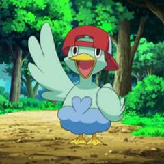 Ducklett con la gorra de <a href=