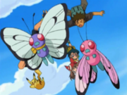 OPJ10 Butterfree junto al Butterfree Rosa