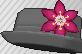 Pin de flor rosa