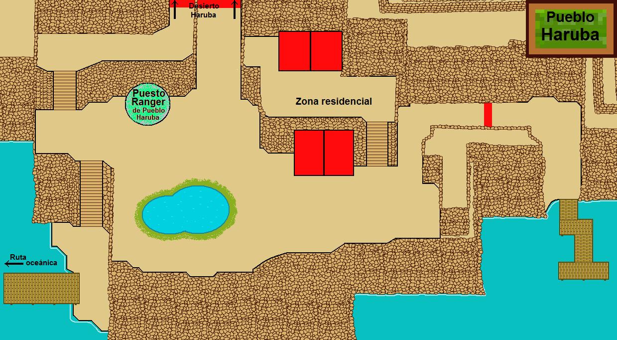 Plano de Pueblo Haruba