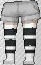 Calcetines de rayas negro