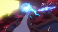 EP939 Pikachu, Mega-Charizard y Greninja Ash atacando