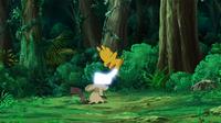 EP946 Pikachu usando cola férrea