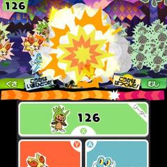 Con la pantalla inferior podremos alternar entre los tres Pokémon.