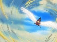EP361 Swellow usando ataque ala
