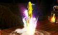 Pikachu usando ataque vertiginoso SSB4 3DS