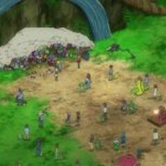 EP863 Entrenadores y sus Pokémon frente al árbol 2.jpg
