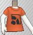 Camiseta con logotipo naranja