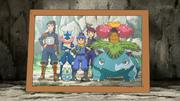 EP902 Foto de Ippei, Nihei y Sanpei con sus Pokémon