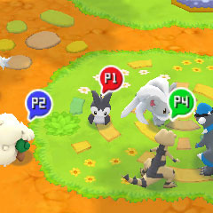 Cuatro personas en el modo multijugador.