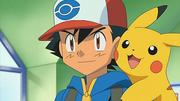 EP661 Ash y Pikachu preparandose