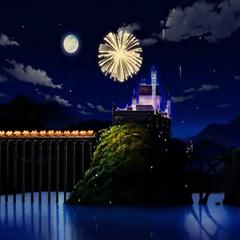 Palacio Cameran de noche.