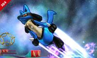 Lucario usando velocidad extrema SSB4 3DS