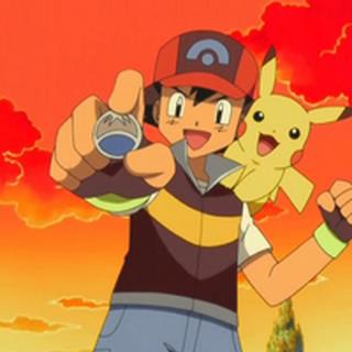 Ash con la medalla.