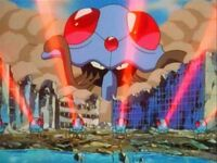 EP019 Tentacruel destruyendo la ciudad