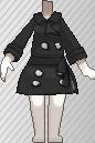 Gabardina negro