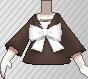 Blusa con lazo marrón