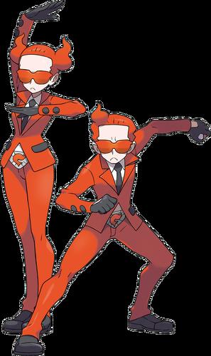 Ilustración de los reclutas del Team Flare en Pokémon X y Pokémon Y