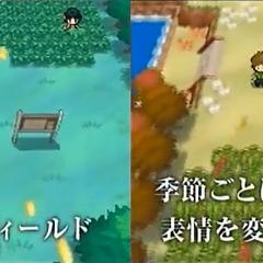 Imagen en la que se demuestra, que en <b>Pokémon Black and White</b>, cambiarán las estaciones del año.