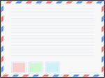 Carta aérea grande
