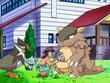 EP569 Reggie atendiendo a los Pokémon