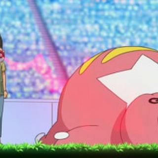 Lickilicky volviendo a su Poké Ball.