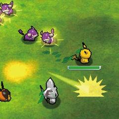 Combatir es la única manera para avanzar. Algunos de los enemigos se unirán a tu equipo después de derrotarles para luchar juntos.