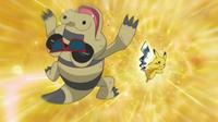 EP672 Pikachu de Ash vs. Sandile
