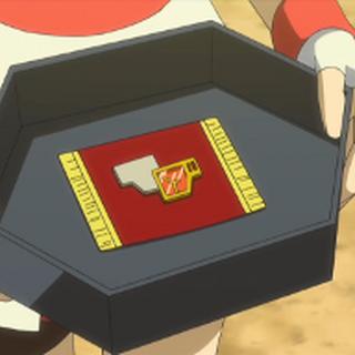 Corelia entregando la medalla Lid a Alain.