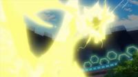 EP931 Pikachu usando rayo
