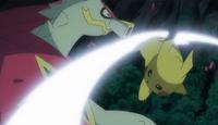 EP977 Pikachu usando cola férrea 3