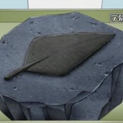 Un fósil pluma en el <a href=