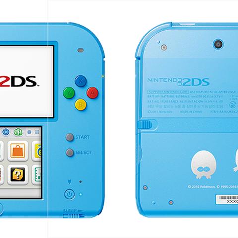 Nintendo 2DS Pokémon Sol Luna azul claro.